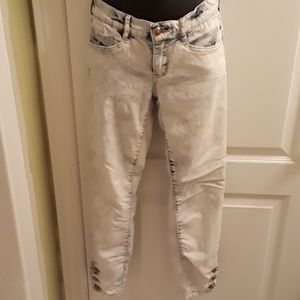 New Dynamite acid washed Jeans with leg buttons